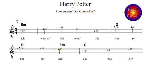 Harry Potter, V. Lage, www.Klimperfibel.de